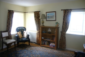 Sitting room Creel holiday cottage Portsoy Aberdeenshire.
