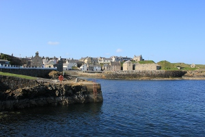 Portsoy harbour area Aberdeenshire.